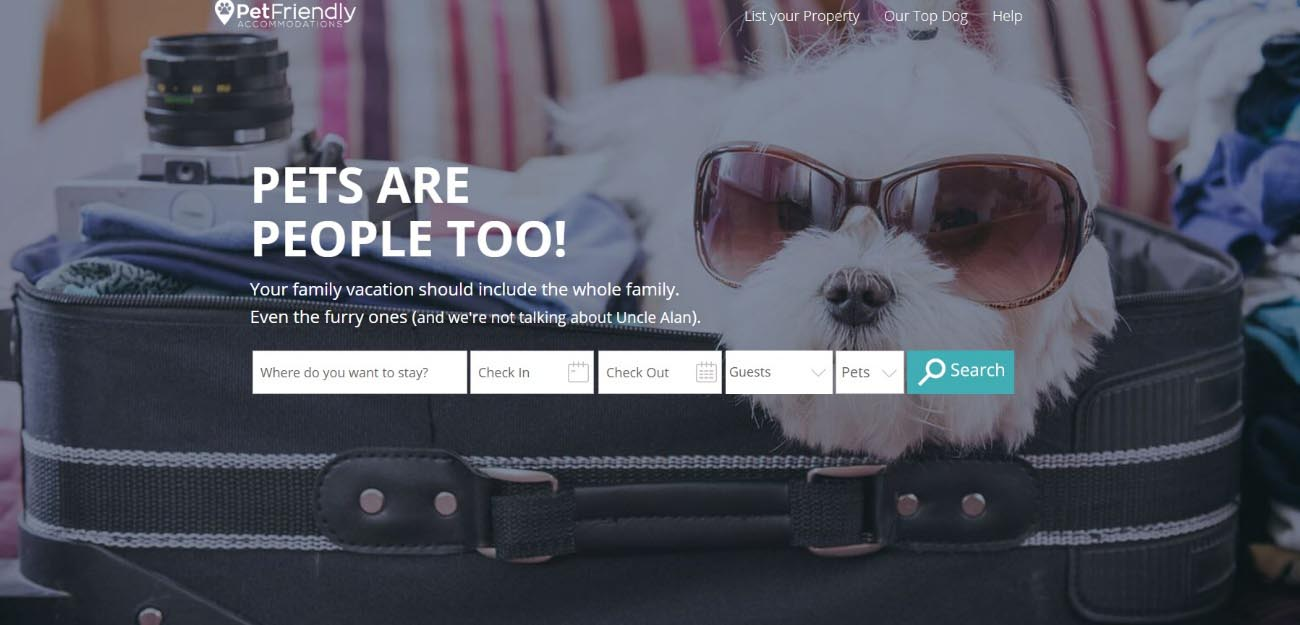 PetFriendly es la página que te ayudará a encontrar el mejor alojamiento para ti y tu mascota