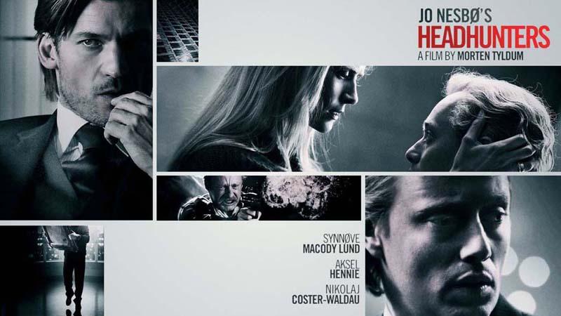 Dos hombre y una mujer aparecen en diferentes situaciones de la película cazatalentos