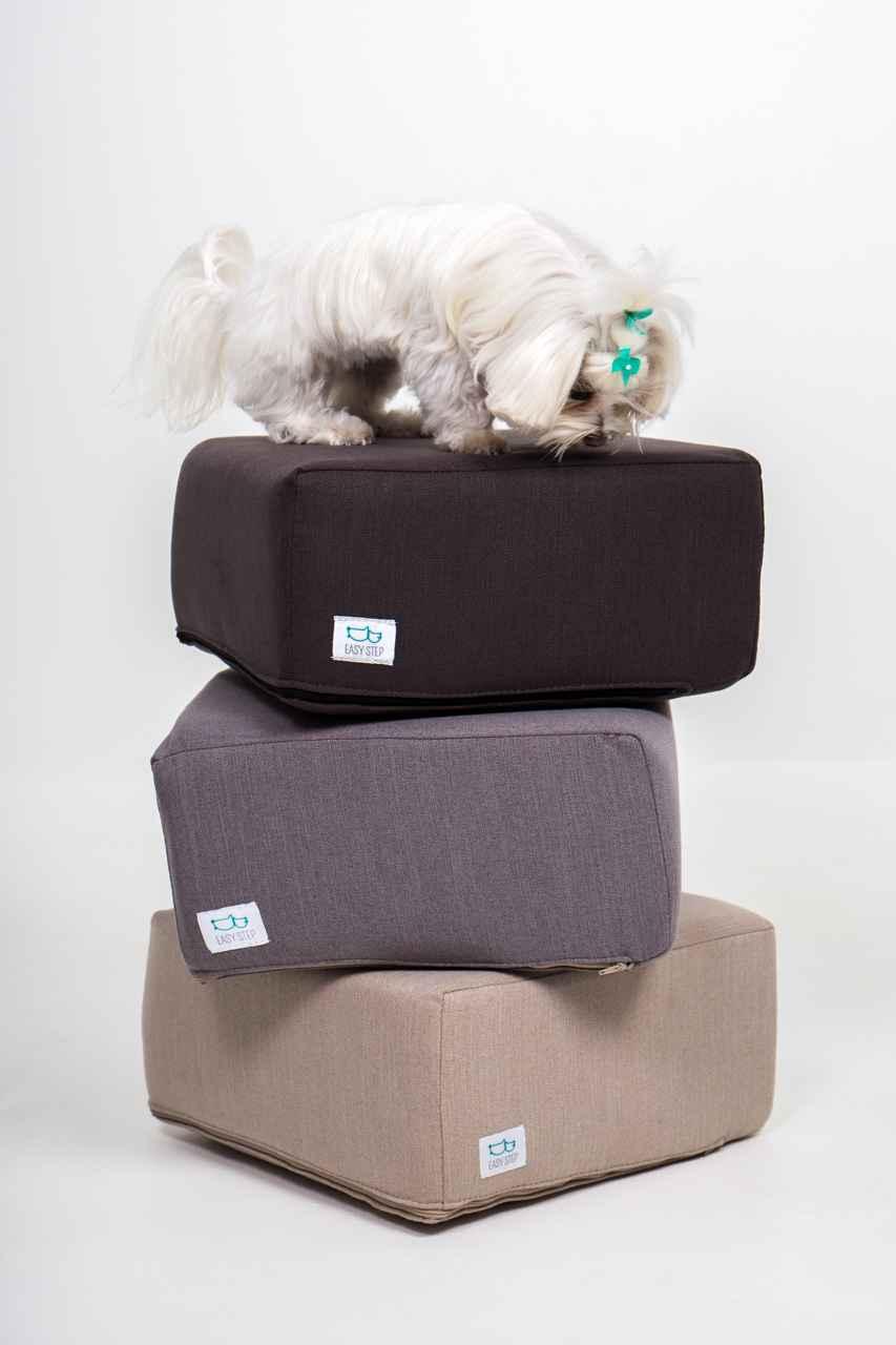 Los accesorios para mascotas vienen con fundas de colores.